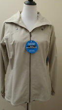 NWT Columbia Women's Jacket Sz M Solid Light Beige W/Hood Summer Cotton/Nylon