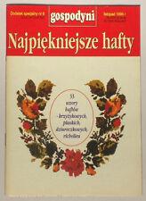 BOOK Pamphlet of Polish Folk Embroidery Pattern POLAND ethnic design textile art