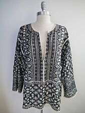 ISABEL MARANT ETOILE black off-white woven embroidered tunic top sz M WORN ONCE