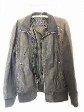 Practically new G by Guess faux leather jacket size small