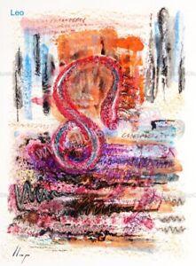Llop - Leo (giclée Fine Art 45x33 Horóscopos)[edición limitada]