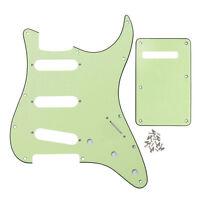 Mint Green 3Ply Guitar SSS Pickguard & Back Plate w/Screw for FD Strat Guitar