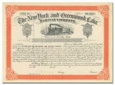 New listing N 00006000 ew York and Greenwood Lake Railway Company Stock Certificate