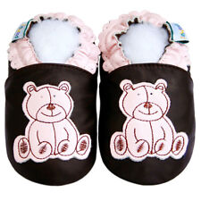 Jinwood Baby Girl Shoes Soft Sole Leather Toddler Infant Kid BearPink Crib 0-6M