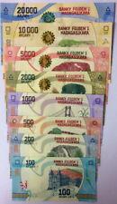 SET Madagascar 100;200;500;1000;2000;5000;10000;20000 2017 UNC > Redesigned
