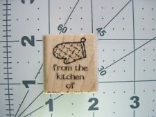 New listing Stampin Up Retired From the Kitchen of Oven Mitt Glove Rubber Stamp
