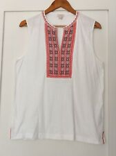 J.CREW Womens NWOT Size L Sleeveless Shirt With Embroidered Front