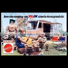 Mattel BIG JIM 'Sports Camper' 1976 Pub Publicité Vintage Action Figure Ad #B182