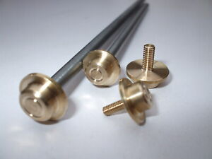 CJW BRASS THREADED HUBCAPS & STEEL AXLE MAMOD WATER CART Live steam models