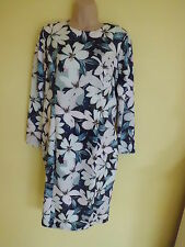 AUTOGRAPH FLORAL LONG-SLEVEED BODYCON  DRESS - SIZE 16/EU 44