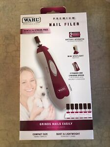 Wahl Premium Pet Nail Filer Trimmer Grinder Battery Operated Mini Spotlight New