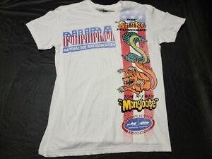 NHRA Tom THE MONGOOSE McEwen vs SNAKE Don Pruhomme L Shirt Hot Rod Racing