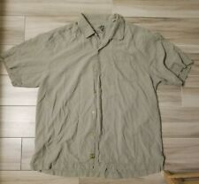 Tommy Bahama Men's Short Sleeve Button Down Green Sz L 100% Silk
