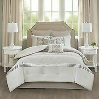 510 DESIGN Ramsey 8 Piece Embroidered Bedding Comforter Set for Bedroom, Queen,