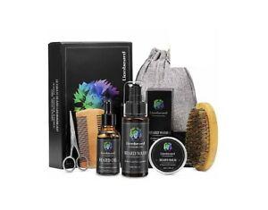 LIONBEARD Coffret de rasage 8 produit, Kit Soins Barbe Pour Hommes cadeaux idéal