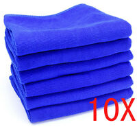 10PCS Blue Microfibre Cleaning Auto Car Detailing Soft Cloths Wash Towel DD