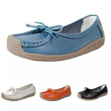 Hot Womens Ladies Loafers Bow Knot Nurse Slip On Flats Work Office Comfy Shoes B