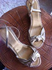 "Women's J.CREW Metallic Gold ""Amelia"" Espadrilles Wedges Size 6"