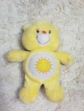 "2002 Care Bears Funshine Bear Talks W/ Light Up Feature 14"" Care-a-lot Friends"