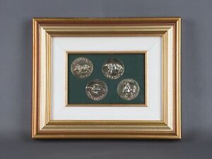 Luciano Minguzzi Display Painting 4 Medals Sculptures Seasons Signed Rare