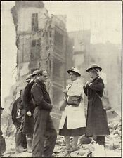 Historical ww2 print Doctor in bombed London 1941