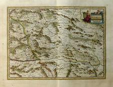 ÖSTERREICH STEIERMARK STIRIA KÄRNTEN KUPFERSTICHKARTE JANSSONIUS WAPPEN 1645