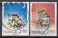 NORWAY 1988 used SC# 935 - 936 Christmas stamps 1988