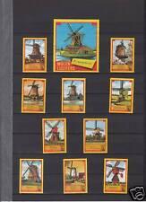 Série étiquettes allumettes Hollande Moulins série 7