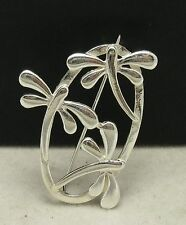 STERLING SILVER BROOCH SOLID 925 DRAGONFLY NEW