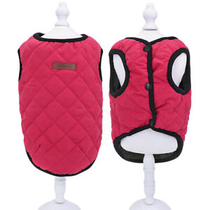 Dog Vest Winter Coat Chihuahua Clothes Fleece Jackets for Small Medium Dogs Pug