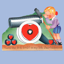 Vintage Valentine Card Valentine'S Day Cannon You'Re The Big Shot Mechanical