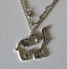 Elephant Pendant Necklace, Mandala Elephant Necklace, Good Luck Charm