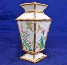 Antique Porcelain Japonesque Aesthetic Movement Vase Faux Bamboo Kite Shape 1870