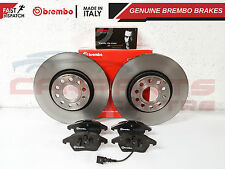 FRONT AXLE 312mm BREMBO BRAKE DISCS PAIR VENTED TYPE HIGH-CARBON PADS PAD SET
