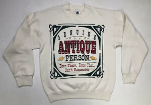 VINTAGE Genuine Antique Person 1993 Crewneck Sweatshirt Men Adult Medium USA 90s