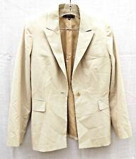 Antonio Melanie Women's Jacket 6 Beige Cotton Stretch Stripe