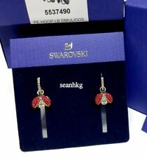 Swarovski 5537490 Sparkling Dance Ladybug Earrings Red/Clear Crystal Authentic