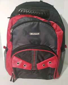 Microsoft Laptop Backpack (Red) - Good, Used Condition