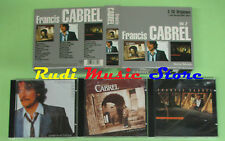 CD FRANCIS CABREL Vol.2 1999 BOX 3 CD Carte postale Photos (Xs7) no lp mc dvd