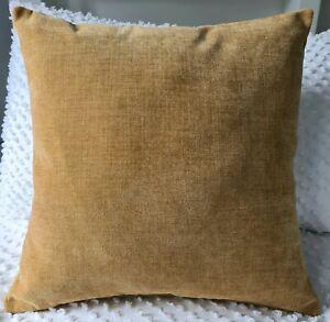 Handmade Heavy Mustard Brushed Velvet  Home Decor Cushion Cover 45x45 NEW