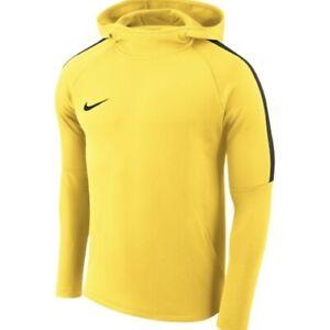 Nike Dry Academy18 Football Hoodie Boys' Size Large NWT AJ0109 719 yellow