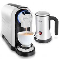 NutriChef Espresso Machine, Capsule Espresso Maker w Hot & Cold Milk Frother