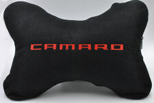 Embroidery Red on Black Headrest Neck Pillow for Chevrolet Camaro (One piece)