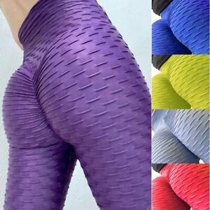 Women Anti-Cellulite High Waist Yoga Pants Gym Leggings Control Elastic Trousers