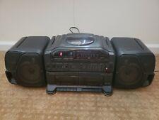 Vintage 1991 Fisher Boombox Ph-D8000 Dual Cassette Radio Cd Dub Detachable Speak