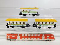 CK6-0,5# 3x Märklin H0/AC Personenwagen etc (aus Set 2841) Spielzeug-Ring, NEUW