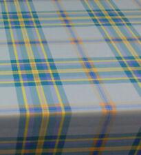 Baumwolle Tischdecke Meterware abwaschbar, karo blau 226-2074