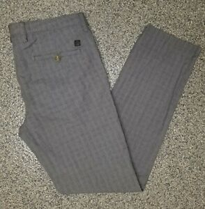 HUGO BOSS Men's Unisex Light Gray & Black Crigan Plaid Pants Size 32 $170