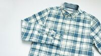 Fat Face Casual shirt men Long Sleeve top size S Small Classic blue white PLAID