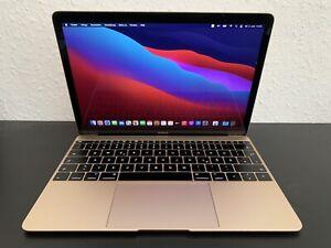 Apple MacBook A1534 256 GB 12'' 2016 Gold 8GB Intel HD 5300 USB-C Big Sur